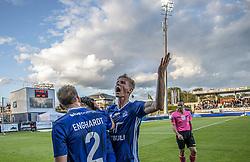 Frederik Winther (Lyngby Boldklub) jubler efter scoringen til 2-1 under kampen i 3F Superligaen mellem Lyngby Boldklub og Hobro IK den 20. juli 2020 på Lyngby Stadion (Foto: Claus Birch).