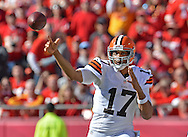 KANSAS CITY, MO - OCTOBER 27:  Quarterback Jason Campbell #17 of the Cleveland Browns throws a pass against the Kansas City Chiefs during the second half on October 27, 2013 at Arrowhead Stadium in Kansas City, Missouri.  Kansas City won 23-17. (Photo by Peter Aiken/Getty Images) *** Local Caption *** Jason Campbell