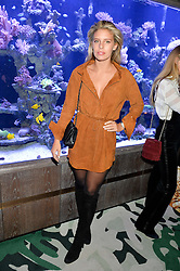 NATASHA OAKLEY at a dinner hosted by Creme de la Mer to celebrate the launch of Genaissance de la Mer The Serum Essence held at Sexy Fish, Berkeley Square, London on 21st January 2016.