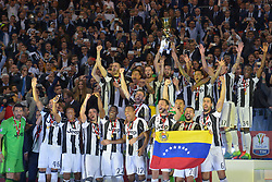Celebrations after Juventus win over Lazio at the Italian Football Cup Final at Stadio Olimpico in Rome. 17 May 2017 Pictured: GV, General View. Photo credit: Insidefoto / MEGA TheMegaAgency.com +1 888 505 6342