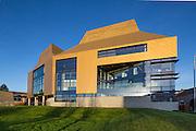 The Hive housing the Worcester Library, Clad in Golden Copper tiles.Worcester Architect: Feilden Clegg Bradley Studios. Built 2012