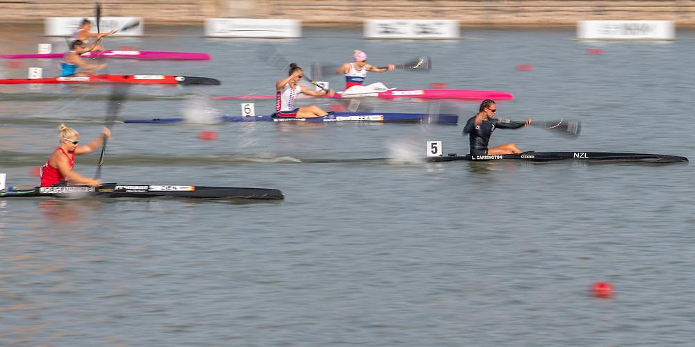 Lisa Carrington , NZ Womens K1 200mtr         <br /> <br /> International Canoe Federation World Championships, Szeged, Hungary. Friday 23 August 2019  © Copyright photo Steve McArthur / www.photosport.nz