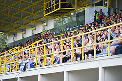 ZNK Pomurje fans during the UEFA Women's Champions League Qualifying Match between ZNK Teleing Pomurje (SLO) and Olimpia Cluj (ROU) at Sportni Park on August 16, 2015 in Beltinci, Slovenia. Photo by Mario Horvat / Sportida