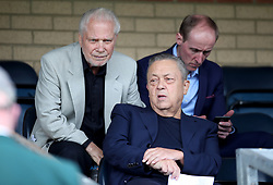 West Ham owners David Gold and David Sullivan during the pre-season match at Adams Park, Wycombe.