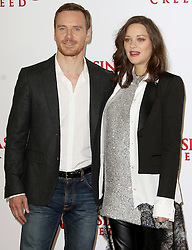 © Licensed to London News Pictures. 08/12/2016. London, UK, Michael Fassbender; Marion Cotillard, Assassin's Creed - London Photocall, Photo credit: Brett Cove/LNP
