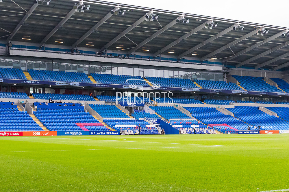 A general view of Cardiff City Stadium, home of Cardiff City FC before the EFL Sky Bet Championship match between Cardiff City and Bournemouth at the Cardiff City Stadium, Cardiff, Wales on 18 September 2021.