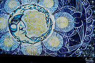 A beautiful mural of an Octopus Moon in Vilcabamba, Ecuador