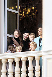 November 19, 2019, Monaco, Monaco: 19-11-2019 Monte Carlo Princess Charlotte of Hanover (rear L), Princess Caroline of Hanover (rear R), Andrea Casiraghi's children Alexandre (R) and India (L) during the Monaco national day celebrations in Monaco. (Credit Image: © face to face via ZUMA Press)