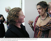Tracey Emin and Rachel Whiteread. Out There opening. White Cube. April 13 2000<br />© Copyright Photograph by Dafydd Jones 66 Stockwell Park Rd. London SW9 0DA Tel 020 7733 0108 www.dafjones.com