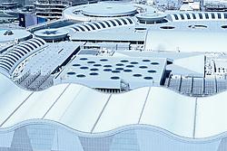 View of roof of Dubai Mall in Dubai United Arab Emirates