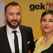 NLD/Amsterdam/20180212 - Premiere Gek op Oranje, Nasrdin Dchar en partner Amy Donk