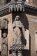 Katedra pw. św. Jana Chrzciciela we Wrocławiu. Portyk zachodni - fragment.