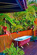 Claw foot, outdoor, bathtub, Fiji
