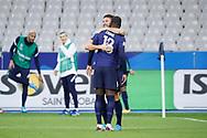 Olivier Giroud (FRA) scored a goal, celebration in arms of Kurt Zouma (FRA) during the UEFA Nations League football match between France and Sweden on November 17, 2020 at Stade de France in Saint-Denis, France - Photo Stephane Allaman / ProSportsImages / DPPI