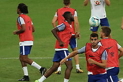 SINGAPORE, July 24, 2017  Chelsea's players attend a training session before the International Champions Cup soccer match against Bayern Munich in Singapore's National Stadium, on July 24, 2017. (Credit Image: © Then Chih Wey/Xinhua via ZUMA Wire)