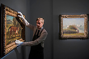 Tiger Playing with a Tortoise, 1862, by Eugene Delacroix, est $5-7m and Le Rade de Grandcamp, 1885, by Georges Seurat, est on request - Christie's unveil an exhibition of touring highlights from the Collection of Peggy and David Rockefeller, ahead of the New York sales (w/c 7 May).  they will be on public view in London from 21 February to 8 March.