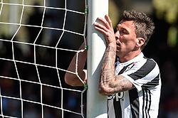 April 7, 2018 - Benevento, Italy - Mario Mandzukic of Juventus looks dejected during the Serie A match between Benevento and Juventus at Ciro Vigorito Stadium, Benevento, Italy on 7 April 2018. (Credit Image: © Giuseppe Maffia/NurPhoto via ZUMA Press)