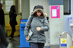 © Licensed to London News Pictures. 03/03/2017<br />  Wet and cold weather for London commuters at Pettswood Train station in Pettswood, Kent this morning.<br /> Photo credit :Grant Falvey/LNP