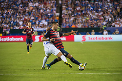 July 19, 2017 - Philadelphia, Pennsylvania, U.S - United States of America forward CLINT DEMPSEY (28) fights for the ball against El Salvador defender NARCISO ORELLANA (12) during CONCACAF Gold Cup 2017 quarterfinal action at Lincoln Financial Field in Philadelphia, PA.  USA  defeats El Salvador 2 to 0. (Credit Image: © Mark Smith via ZUMA Wire)