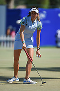 Gerina Piller (USA) putts on the practice green during the preview of the 2020 ANA Inspiration, Mission Hills C.C., Rancho Mirage, California, USA. 9/9/2020.<br /> Picture: Golffile | Ken Murray<br /> <br /> All photo usage must carry mandatory copyright credit (© Golffile | Ken Murray)