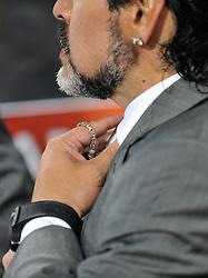 27.06.2010, Soccer City Stadium, Johannesburg, RSA, FIFA WM 2010, Argentina (ARG) vs Mexico (MEX), im Bild L'allenatore Diego Armando Maradona (Argentina).. EXPA Pictures © 2010, PhotoCredit: EXPA/ InsideFoto/ Giorgio Perottino +++ for AUT and SLO only +++ / SPORTIDA PHOTO AGENCY