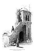 Staircase leading to the Church of St. John, Jerusalem. from the book Picturesque Palestine, Sinai, and Egypt By  Colonel Wilson, Charles William, Sir, 1836-1905. Published in New York by D. Appleton and Company in 1881  with engravings in steel and wood from original Drawings by Harry Fenn and J. D. Woodward Volume 1