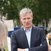 Speaker Zac Goldsmith rally to STOP Live Transport 2018 unnecessary suffering in Parliament Square June 14 2018, London, UK.