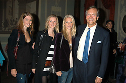 Left to right, LEONORA STEVENS, sisters CHLOE DELEVINGNE and POPPY DELEVINGNE and their father CHARLES DELEVINGNE at a party hosted by Tatler magazine to celebrate the publication of Lunar park by Bret Easton Ellis held at Home House, 20 Portman Square, London W1 on 5th October 2005.<br />