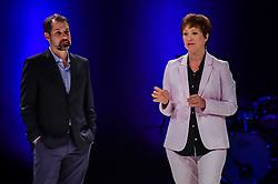 Sonia Bridi e Tulio Milman durante o VOX - The Joy of Sharing, evento que pretende provocar reflexões sobre o futuro da comunicação a partir do compartilhamento de conteúdo e experiências.  FOTO: Vinícius Costa/ Agência Preview