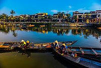 Along the waterfront on the Thu Bon River, Hoi An, Vietnam.