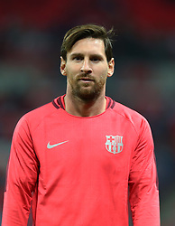 October 3, 2018 - London, United Kingdom - London, UK, 3 October,  2018..Lionel Messi of Barcelona  during the pre-match warm-up .during UEFA Champions League Group B match between Tottenham Hotspur and FC Barcelona at Wembley stadium. London. (Credit Image: © Action Foto Sport/NurPhoto/ZUMA Press)