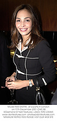 Model INES SASTRE, at a party in London on 11th December 2001.OWE 88
