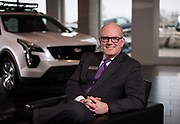 Andy Finney. General Manager of Bergstrom Cadillac poses for a portrait in Madison, WI on Wednesday, April 3, 2019.
