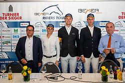 SCHOONBROODT-DE AZEVEDO Celine (BEL), LÜNEBURG Nisse (GER), WEIER Christian (LUX)<br /> Münster - Turnier der Sieger 2019<br /> Pressekonferenz<br /> MARKTKAUF - CUP<br /> BEMER-Riders Tour - Qualifier for the rating competition (comp no 11)  - Stechen<br /> CSI4* - Int. Jumping competition with jump-off (1.50 m) - Large Tour<br /> 03. August 2019<br /> © www.sportfotos-lafrentz.de/Stefan Lafrentz