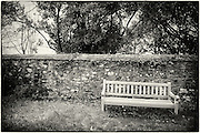 Bench in the garden at Cotehele