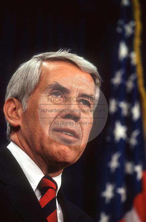 Senator Richard Lugar during a press conference in Washington, DC.