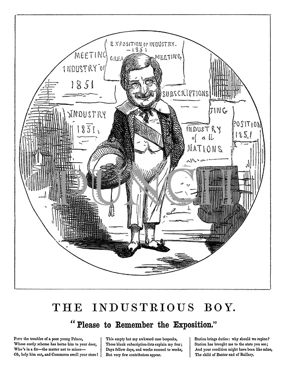 """The Industrious Boy. """"Please to remember the Exposition."""""""