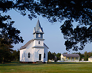 Methodist Church, rebuilt in 1914 following a September storm the year before, ghost town of Portsmouth, Cape Lookout National Seashore, North Carolina.
