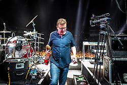 The Proclaimers at Edinburgh Castle 21 July 2019; The Proclaimers play their home town with a live show at Edinburgh Castle. Charlie Reid leaves the stage after the encore.<br /> <br /> (c) Chris McCluskie | Edinburgh Elite media