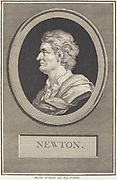 Augustin de Saint-Aubin (French, 1736 - 1807), Isaac Newton, 1801, engraving over etching on laid paper