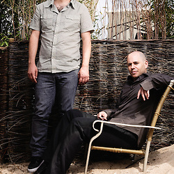 Ajami's israeli directors Scandar Copti and Yaron Shani at the 62th Cannes Film Festival. France. 22 May 2009. Photo: Antoine Doyen