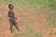 Young child member of the Bena Tribe, Omo Valley, Ethiopia