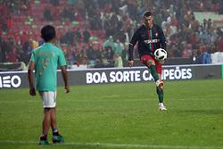 June 7, 2018 - Lisbon, Portugal - Portugal's forward Cristiano Ronaldo plays with his son Cristianinho after the FIFA World Cup Russia 2018 preparation football match Portugal vs Algeria, at the Luz stadium in Lisbon, Portugal, on June 7, 2018. (Credit Image: © Pedro Fiuza via ZUMA Wire)