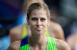 Anita Horvat of Slovenia after she competed in the Women's 400 metres heats on day one of the 2017 European Athletics Indoor Championships at the Kombank Arena on March 3, 2017 in Belgrade, Serbia. Photo by Vid Ponikvar / Sportida