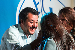 April 27, 2019 - Turin, ITALY, Italy - Matteo Salvin,i Deputy Prime Minister of Italy and Minister of the Interior,   speaks  in Turin to support the Piedmont candidate of Lega Nord  (Credit Image: © Mauro Ujetto/NurPhoto via ZUMA Press)
