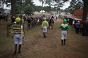 Colonial Cup - Camden, South Carolina. Jockeys walk to the paddock.