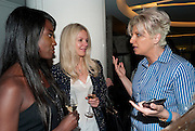 LARRAINE PASCALE; NATALIA TRAXEL; ; SILVENA ROWE, The French Laundry reception to celebrate the October opening of the 10-day pop-up ' French laundry restaurant in Harrods. The Penthouse, Harrods. London. 31 August 2011.<br /> <br />  , -DO NOT ARCHIVE-© Copyright Photograph by Dafydd Jones. 248 Clapham Rd. London SW9 0PZ. Tel 0207 820 0771. www.dafjones.com.