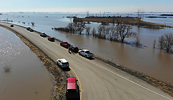 March 21, 2019 - Craig, Missouri, U.S. - Interstate 29 in Craig, Mo., was surrounded by flood waters on Thursday, in Holt County. Large sections of Interstate 29 are shut down due to the flooding. (Credit Image: © Tammy Ljungblad/Kansas City Star/TNS via ZUMA Wire)