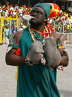 Photo: Steve Bond/Richard Lane Photography.<br />Ghana v Guinea. Africa Cup of Nations. 20/01/2008. CAN opening ceremony and ready for a sacrifice