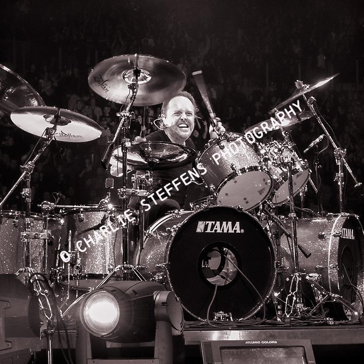Lars Ulrich of Metallica at The Forum in Inglewood, California